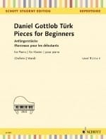 Pieces for Beginners Daniel Gottlob Türk Partition laflutedepan