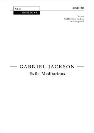 Gabriel Jackson - Exile Meditations - Sheet Music - di-arezzo.com