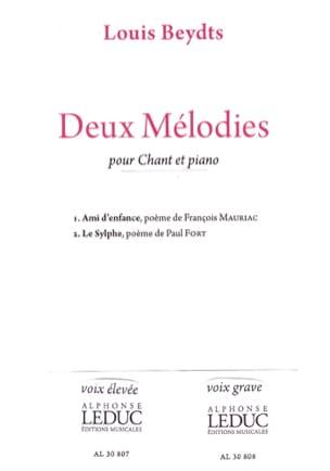 2 Mélodies. Voix Haute Louis Beydts Partition Mélodies - laflutedepan