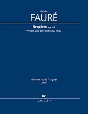 Requiem Opus 48. Version 1889. XL Format - FAURÉ - laflutedepan.com