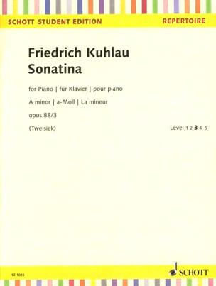 Sonatine en La mineur Opus 88-3 - Friedrich Kuhlau - laflutedepan.com