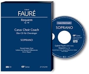 Requiem Opus 48. Version 1900. CD (MP3) Soprano FAURE laflutedepan