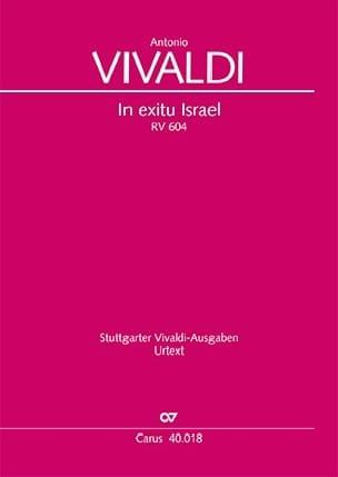 VIVALDI - In Exitu Israel RV 604 - Sheet Music - di-arezzo.co.uk