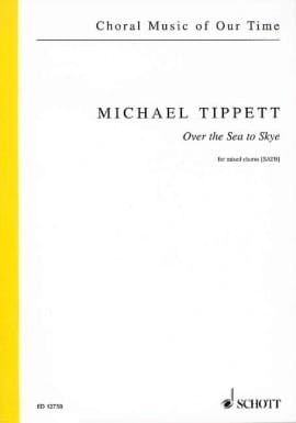 Over the sea to sky Michael Tippett Partition Chœur - laflutedepan