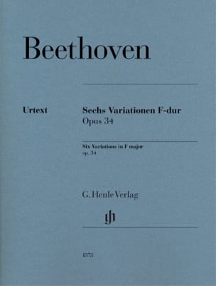 Ludwig van Beethoven - 6 Variations in F Major Opus 34 - Partition - di-arezzo.co.uk
