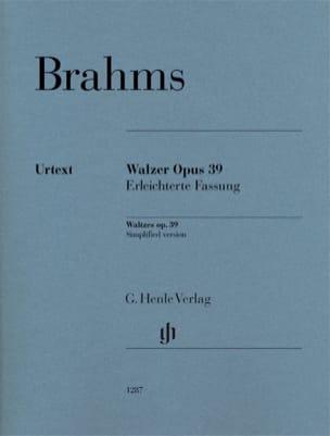 Johannes Brahms - Valses op.39. Versión simplificada - Partition - di-arezzo.es