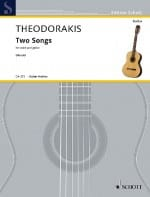 Two Songs - Mikis Theodorakis - Partition - Guitare - laflutedepan.com