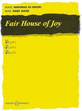 Roger Quilter - Fair House of Joy Opus 12-7 - Sheet Music - di-arezzo.com