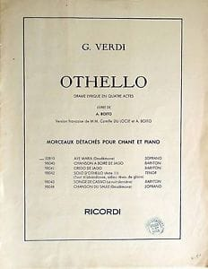 Giuseppe Verdi - The Willow Song. Othello - Sheet Music - di-arezzo.co.uk