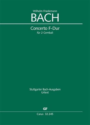 Wilhelm Friedemann Bach - Concerto in F major for 2 Harpsichords - Sheet Music - di-arezzo.com