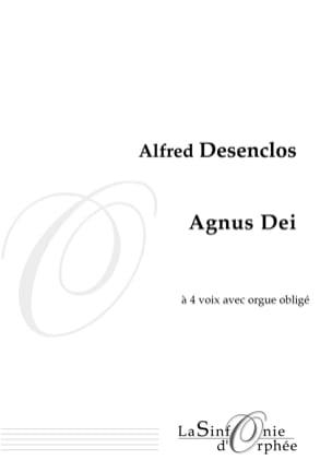 Agnus Dei Alfred Desenclos Partition Chœur - laflutedepan
