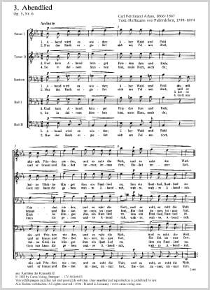 Chant du Soir op.5-6 - Carl Ferdinand Adam - laflutedepan.com