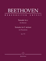 Ludwig van Beethoven - Piano Sonata No. 32 in C minor Opus 111 - Partition - di-arezzo.com
