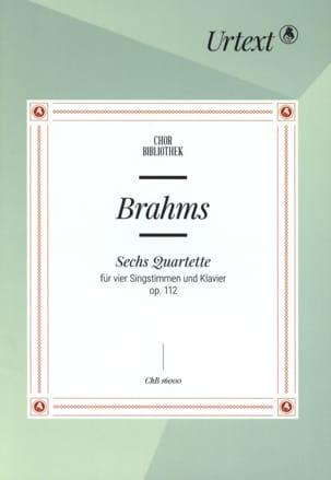 6 Quatuors Opus 112 BRAHMS Partition Chœur - laflutedepan