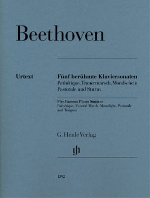 Ludwig van Beethoven - 5 Famous Sonatas for Piano - Partition - di-arezzo.co.uk
