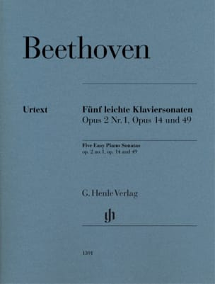 Ludwig van Beethoven - 5 Easy piano sonatas - Sheet Music - di-arezzo.co.uk