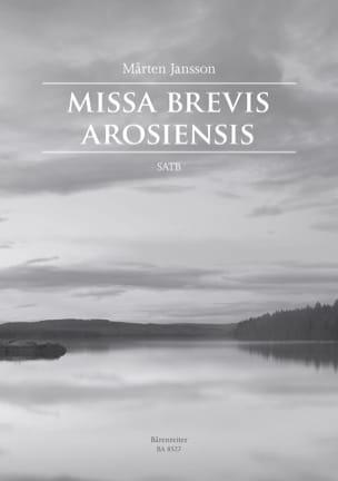 Missa Brevis Arosiensis Marten Jansson Partition Chœur - laflutedepan