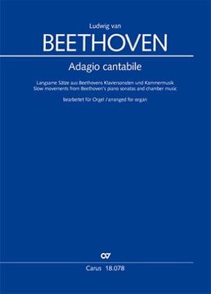 Adagio Cantabile BEETHOVEN Partition Orgue - laflutedepan