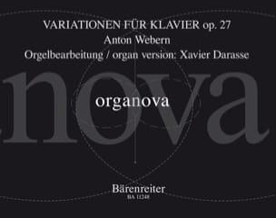 Variations Opus 27 WEBERN / DARASSE Partition Orgue - laflutedepan