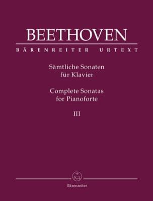 Sonates pour Piano - Volume 3 BEETHOVEN Partition Piano - laflutedepan