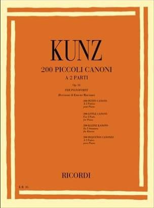 Konrad Kunz - 200 small cannons op.14 - Partition - di-arezzo.co.uk