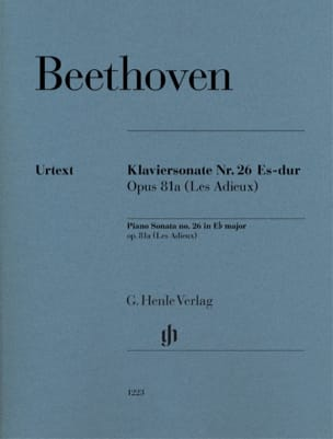 Sonate pour piano n° 26 en Mi bémol majeur Opus 81a laflutedepan