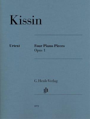 4 Pièces pour Piano Opus 1 Evgeny Kissin Partition laflutedepan
