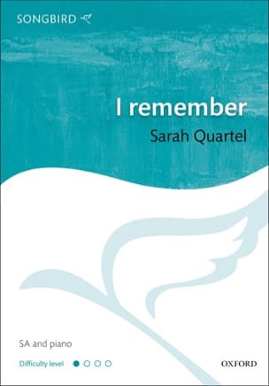 I Remember - Sarah Quartel - Partition - Chœur - laflutedepan.com