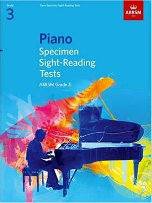 - Piano specimen sight-reading tests. Grade 3 - Partition - di-arezzo.fr