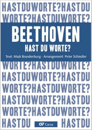 Hast du Worte? - Beethoven Peter Schindler Partition laflutedepan