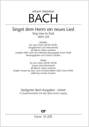 Singet dem Herrn ein neues Lied BWV 225 laflutedepan