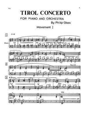 Tirol concerto - Partie de soliste GLASS Partition laflutedepan