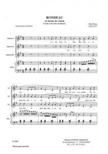 Rondeau Mel Bonis Partition Musique de chambre vocale - laflutedepan