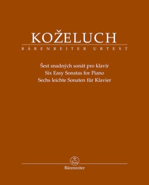 6 Sonates faciles Leopold Antonin Kozeluch Partition laflutedepan