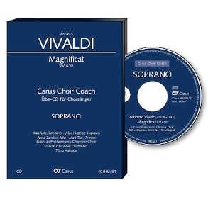 Magnificat RV 610. CD Alto CHOEUR VIVALDI Partition laflutedepan