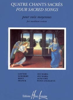 - 4 Sacred Songs. Mean Voice - Sheet Music - di-arezzo.co.uk
