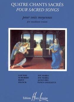 - 4 Chants Sacrés. Voix Moyenne - Partition - di-arezzo.fr