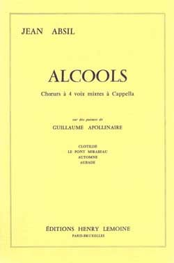 Jean Absil - alcohols - Sheet Music - di-arezzo.co.uk