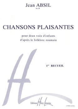 Jean Absil - Chansons Plaisantes Opus 88. Volume 1 - Partition - di-arezzo.fr