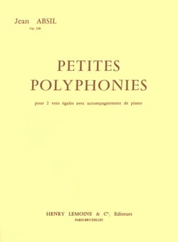 Jean Absil - Petites Polyphonies Opus 128 - Partition - di-arezzo.fr