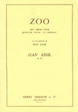 Jean Absil - Zoo Opus 63 - Sheet Music - di-arezzo.co.uk