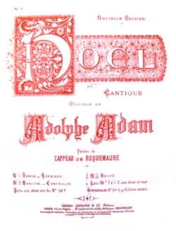 Adolphe Adam - Noël : Minuit Chrétien. Voix Grave - Partition - di-arezzo.fr