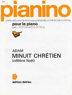 Minuit Chrétiens. ADAM Partition Piano - laflutedepan