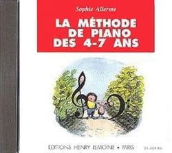 CD - Méthode de Piano 4-7 ans Sophie Allerme Partition laflutedepan