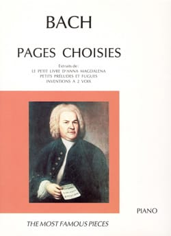 Pages Choisies - BACH - Partition - Piano - laflutedepan.com