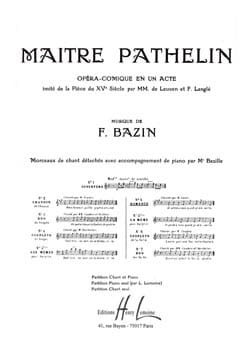 François Bazin - Romance. Master Pathelin - Sheet Music - di-arezzo.co.uk