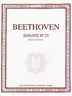 BEETHOVEN - Sonate pour piano n° 25 En Sol Majeur Opus 79 - Partition - di-arezzo.fr
