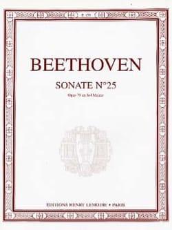 BEETHOVEN - Sonata para piano n.º 25 en sol mayor Opus 79 - Partitura - di-arezzo.es