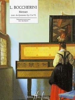 BOCCHERINI - Menuet Opus 13-5 - Partition - di-arezzo.fr