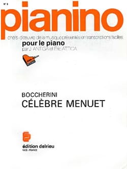 Menuet Opus 13-5. Pianino 3 BOCCHERINI Partition Piano - laflutedepan